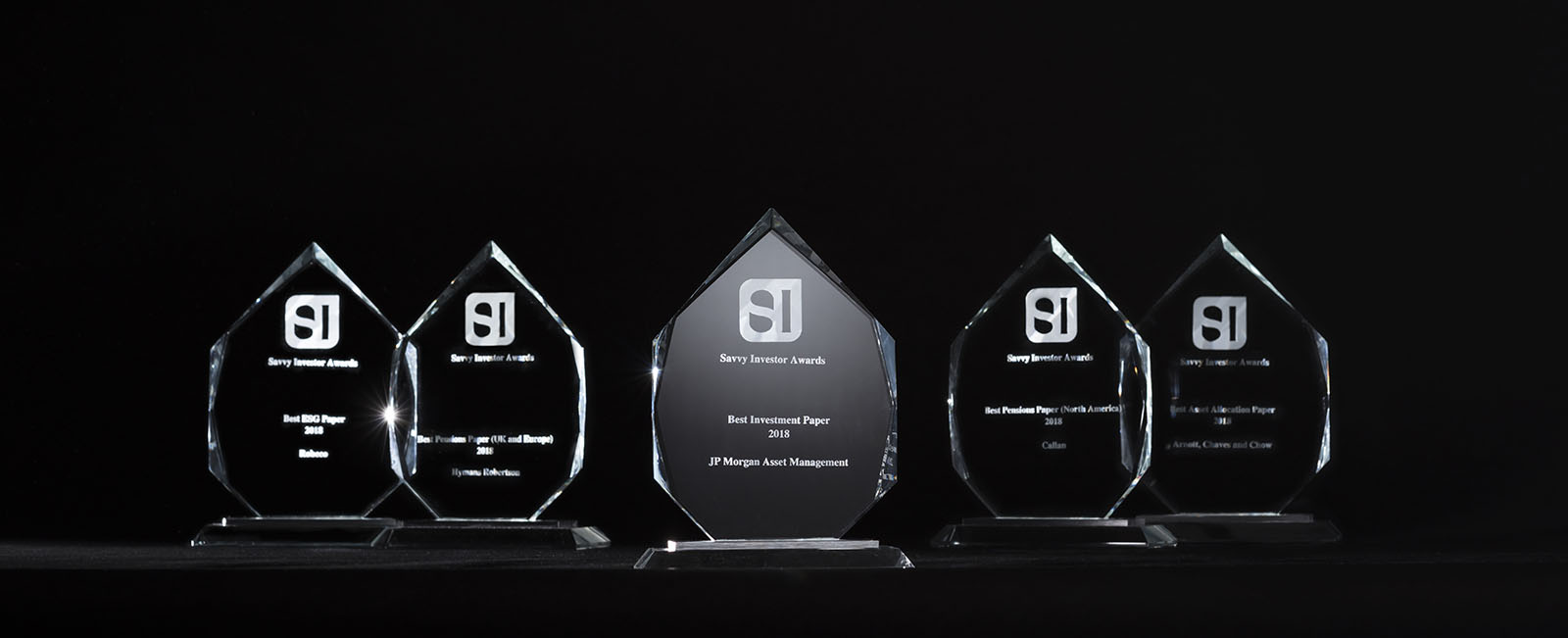 Savvy Investor Awards 2018 Trophies