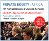 7th Annual PE Outlook Seminar & Awards Gala Dinner (London) 1 March 2017
