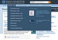 Savvy Investor largest pension funds screenshot