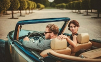 Beautiful couple in car Megatrends in fund management industry