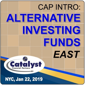 Cap Intro: Alternative Investing Funds East (New York City) 22 Jan 2019