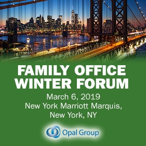 Family Office Winter Forum 2019 (New York City) 6 Mar