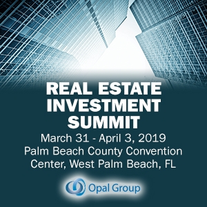 Real Estate Investment Summit 2019 (West Palm Beach, FL) 31 Mar-3 Apr
