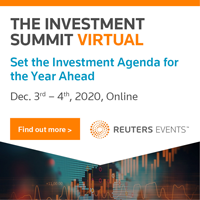 Virtual Event 3-4 Dec 2020: Reuters Global Investment Summit