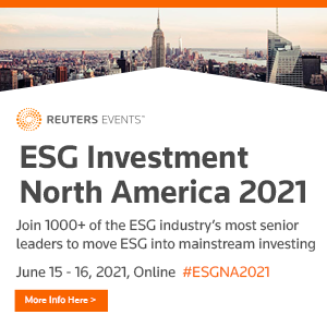 Virtual Event 15-16 Jun 2021: Reuters ESG Investment North America