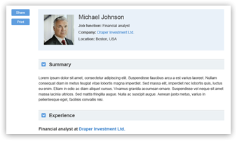 Screenshot of a Savvy Investor user profile - join now to create yours